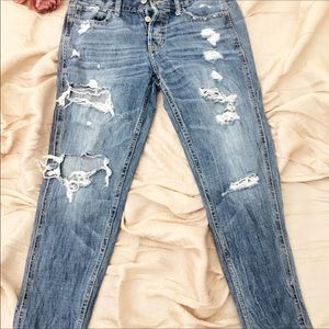 Hollister Jeans - Hollister Straight leg ripped jeans. Size 5, w27